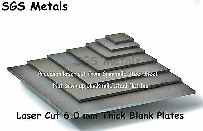"6mm 1/4"" MILD STEEL SQUARE Plates - Fly Press Folder Guillotine Drill"