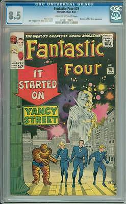 Fantastic Four # 29  It Started on Yancy Street !  CGC 8.5 scarce book !