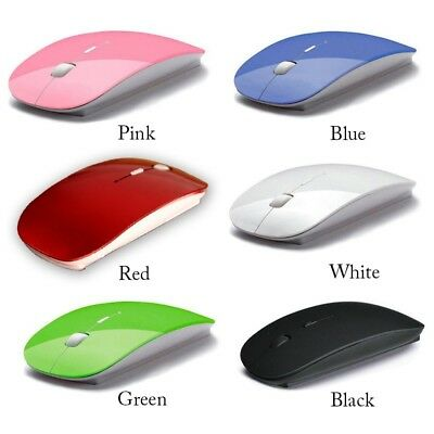 ULTRA THIN WIRELESS MOUSE 2.4ghz OPTICAL COMPUTER GAMING MOUSE AND USB RECEIVER