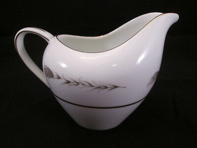 Grano by Empress China Creamer K Backstamp Wheat Design, Gold Trim 1813