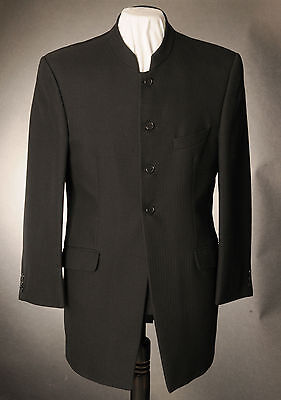 Mj-81.mens Black Herringbone Nehru Prince Edward Jacket,wedding, Dress, Suit