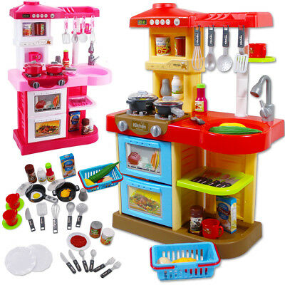 Play Kitchen Set Toy with Play Food and Cooking Accessories