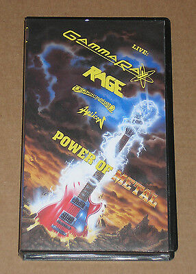 Power Of Metal (Gamma Ray, Rage, Helicon, Conception) - Videocassetta Vhs