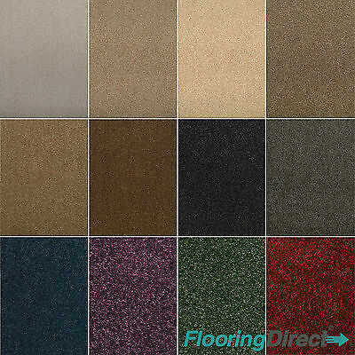 New Quality Feltback Twist Carpets - Stain Resistant - Lounge - Bedroom - Stairs