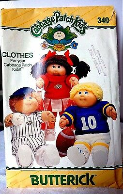Vintage 1984 Cabbage Patch Pattern Used Sports Clothes  Butterick  #340