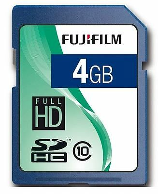 Genuine FujiFilm Fuji SDHC 4GB Class 10 Memory Card C10 for Digital Camera/DSLR