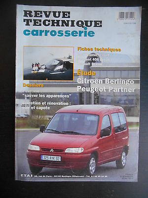 Revue technique carrosserie n°167 05/1997  Citroën Berlingot et Peugeot Partner