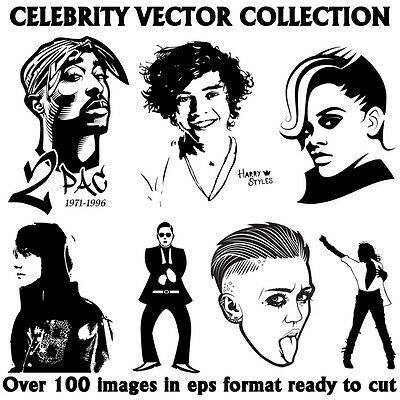 celebrity VECTOR image COLLECTON eps clip art PLOTTER clip art FREE P&P