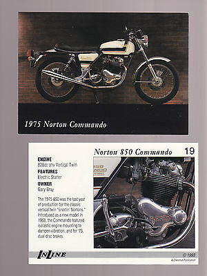 1975 NORTON 850 COMMANDO 828cc V-Twin 1993 Inline Classic Motorcycle CARD # 19