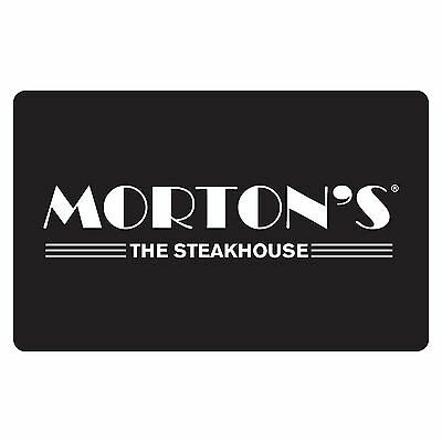 $50 Morton's The Steakhouse Physical Gift Card - 1st Class Mail Delivery