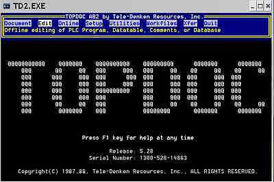 TOPDOC Programming Software for PLC-2 & cable, runs on Win7/8/10