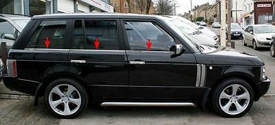 CHROME WINDOW RUBBER TRIM COVERS KIT Range Rover L322 Vogue 2005+ stainless