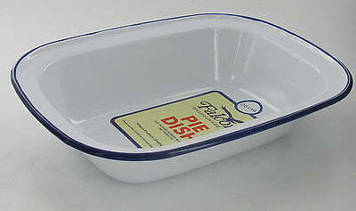Falcon 16cm Traditional Oblong Enamel Ovenproof Dish. Camping/Pies/Baking/Puds