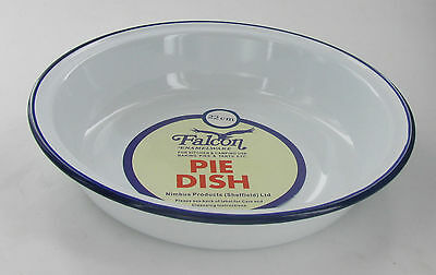 Falcon 14cm Traditional Enamel Ovenproof Round Roaster. Camping/Pies/Baking/Puds