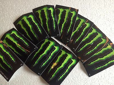 10 Energy Monster Drink Stickers Decals M Claw 4x3 Inches