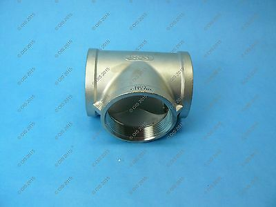 "Stainless Steel 304 Cast Pipe Fitting Tee 3"" NPT, Class 150"
