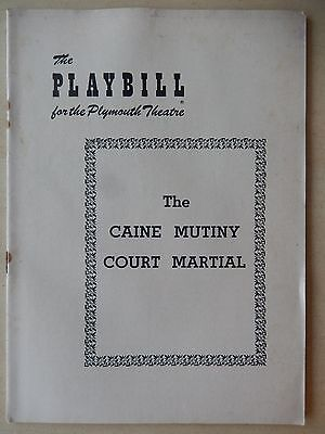October 1954 - Plymouth Theatre Playbill - The Caine Mutiny Court Martial