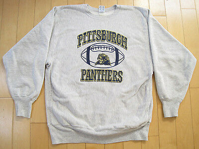 HEAVY DUTY!! 90s vintage PITTSBURGH PANTHERS FOOTBALL champion SWEAT SHIRT large