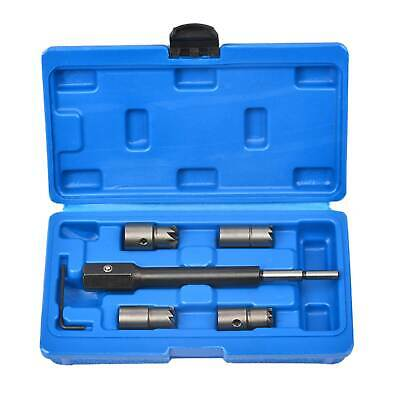 5Pc Diesel Injector Seat Cutter Cleaner Kit