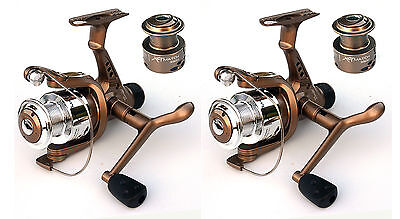 2 Waterline XLT Match Reel 035RD with spare spool-float/feeder/Spin/carp fishing