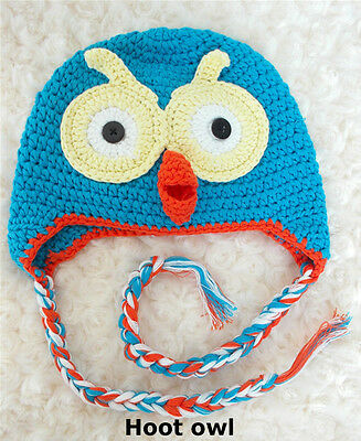 Hoot Handmade Owl Beanie GIFT Girl Boy Toddler Baby shower Kids Child Photo toy