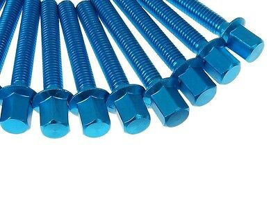Screw Set Engine Cover New Style Minarelli in blue for PGO Big Max 50 Type:PM