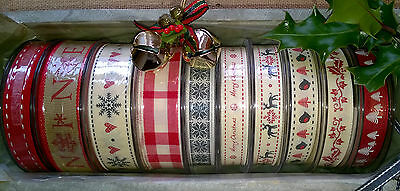 CHRISTMAS RIBBON-BERISFORDS - SOLD BY THE METRE- various widths.