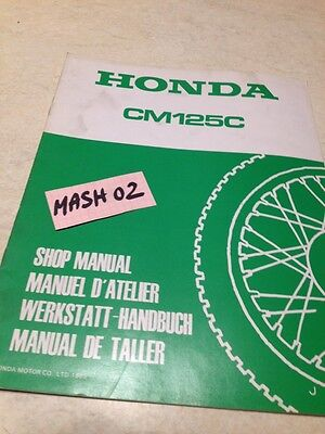 supplément manuel atelier Honda CM 125 C Custom CM125C Shop manual éd. 88