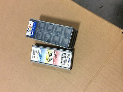 carbide iscar inserts aom 060204-45dt ic908. 40 inserts.