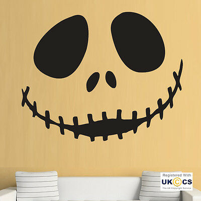 The Nightmare Before Christmas Wall Decals Jack Sally Room Decor