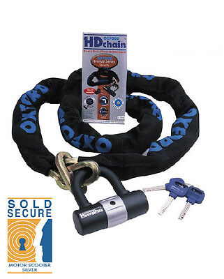 Oxford Hd Chain & Padlock Motorbike Motorcycle Scooter Lock 1.5M Sold Secure