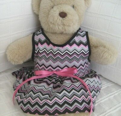 Teddy Bear Clothes, Handmade Chevonne Cotton Summer Dress