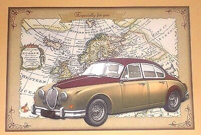 Handmade Greeting Card 3D All Occasion With A Vintage Car