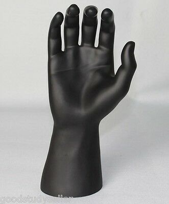 PU Black Male Mannequin Right Hand For Jewellery Rings Gloves Bracelet Watches
