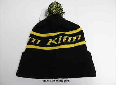 Klim Black & Yellow Bomber Pom Beanie Hat 6028-001-000-000