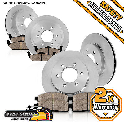 Front Rear 4 Rotors Ceramic Pads GMC ACADIA BUICK ENCLAVE CHEVY TRAVERSE OUTLOOK