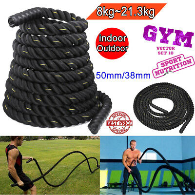 Battle Power Rope 38/50mm Battling Sport  Bootcamp Gym Exercise Fitness Training