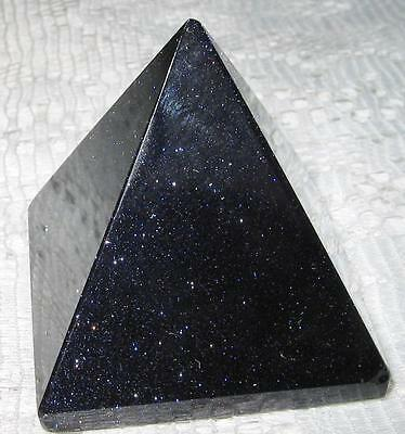 Lovely  *gold Bluestone*  Crystal Gemstone Pyramid/ 3.8Cms By 3.8Cms / A1+ Grade