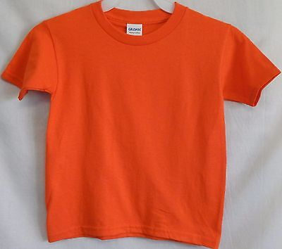 NWOT Gildan Size Toddler 5T 4/5 Orange Short-Sleeve T-Shirt Tee Shirt Top New