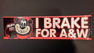 NEW! A & W A&W Root Beer Rootbeer Soda Pop Bumper Sticker Decal Retro Shop
