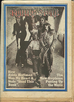 1971 Jefferson Airplane Rolling Stone Magazine No. 92 Abbie Hoffman Woody Allen