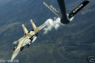 Israeli F-15 maneuvers after an air refueling by a KC-135-During Red Flag