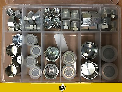 64 pc ORFS O-Ring Plug and Cap Hydraulic Flat Face Seal Fittings ORS  Kit