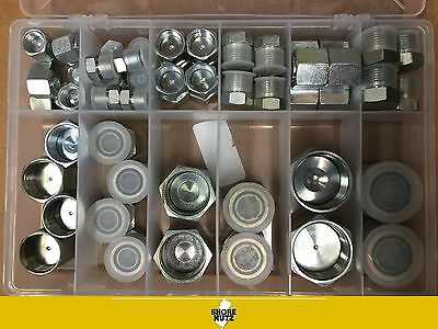 HYDRAULIC O-RING FACE SEAL ORS PLUG AND CAP KIT 64pc