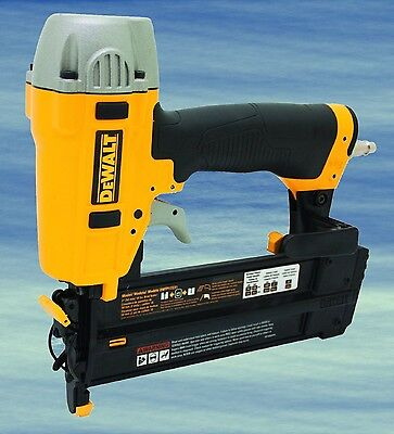 TOP Dewalt Brad Nailer Kit 18 Gauge Air Tool Pneumatic Maintenance Free #3990