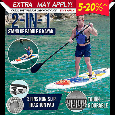 New Bestway 3M Inflatable Stand Up Paddle Board Surfboard Sup Kayak Paddle Pump