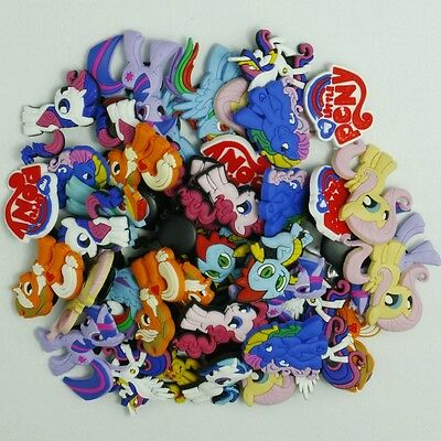 50pcs My Little Pony Shoe Charms Decoration for Croc&Jibbitz Silicone Wristband