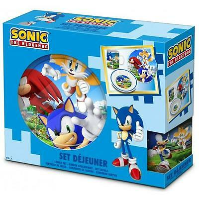 Sonic The Hedgehog - Ceramic Dinner Set Plate Bowl Mug - New & Official SEGA