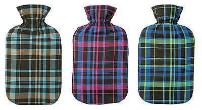 Fashy Tartan Latex Free Hot Water Bottle