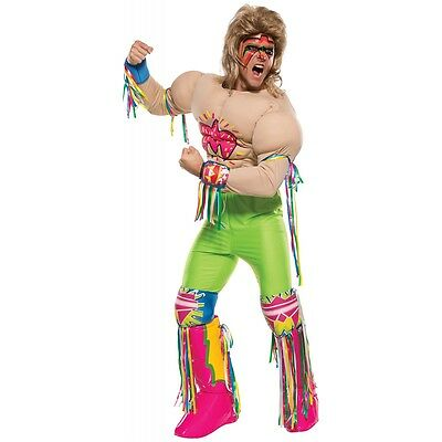Ultimate Warrior Costume Adult WWE Wrestler Halloween Fancy Dress